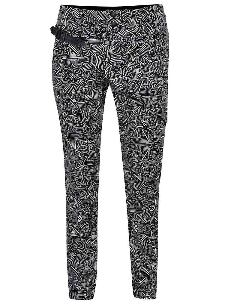 Pantaloni crem cu negru Skunkfunk