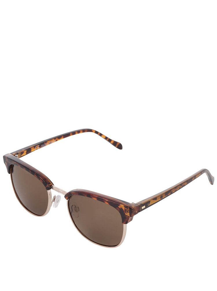 Hnědé vzorované sluneční brýle Jack & Jones Leo