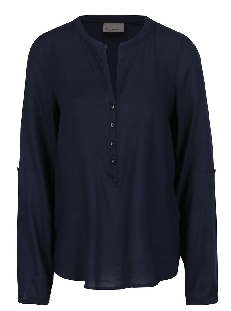 Bluză bleumarin VERO MODA Fay cu croi lejer