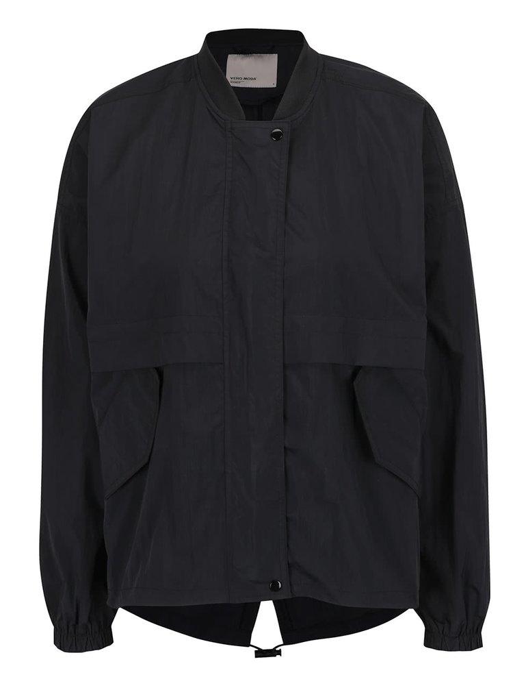 Jachetă neagră VERO MODA Car cu șiret