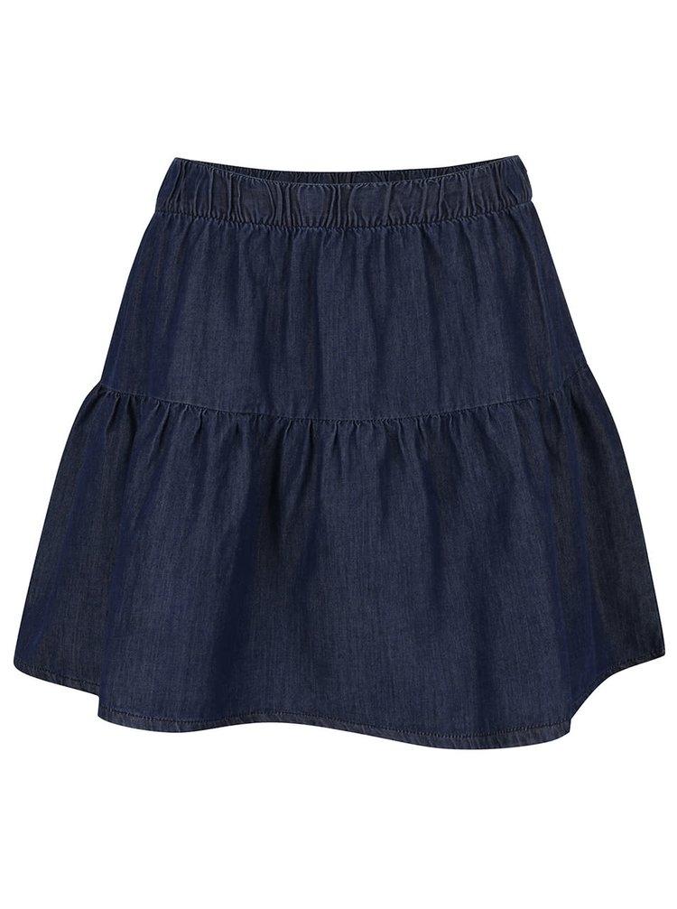 Tmavě modrá džínová sukně VERO MODA Emilia