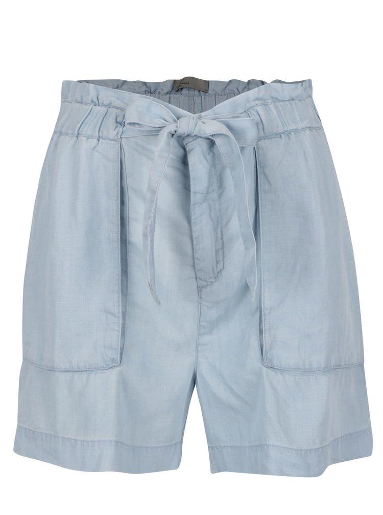 Pantaloni scurți albaștri VERO MODA Zoe cu cordon