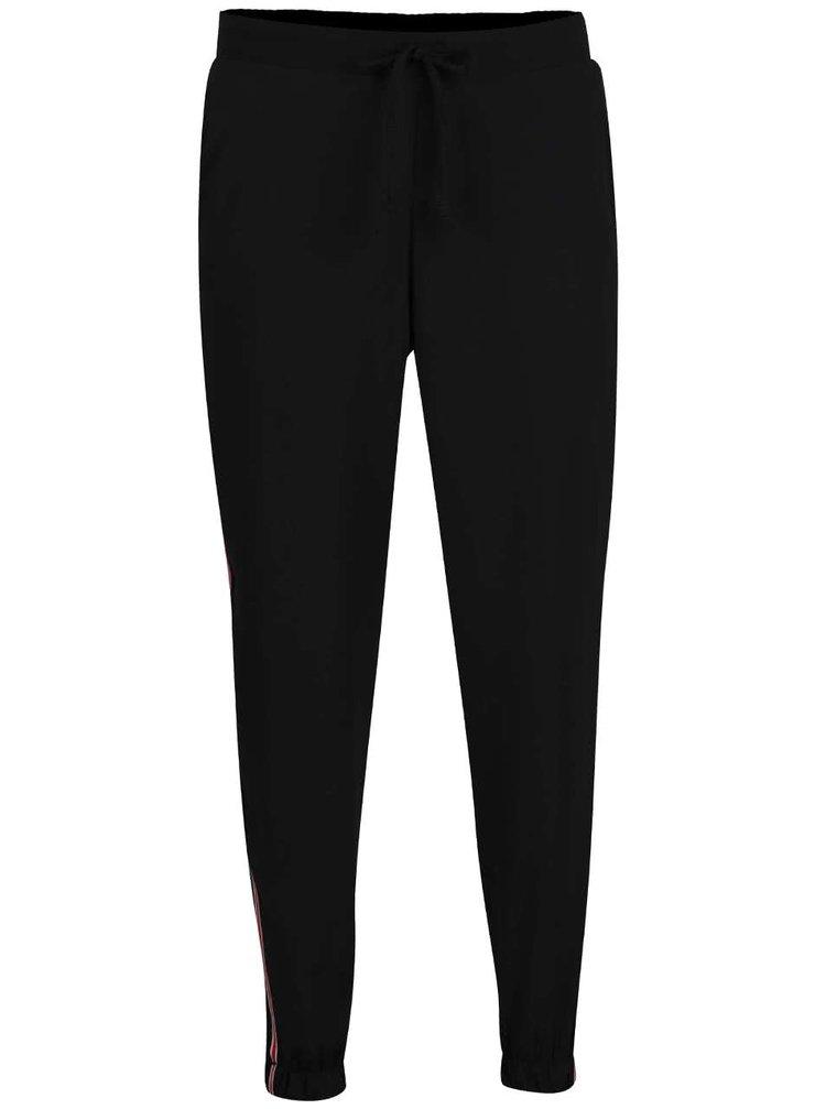 Pantaloni sport negri Haily's Jana cu detaliu roșu