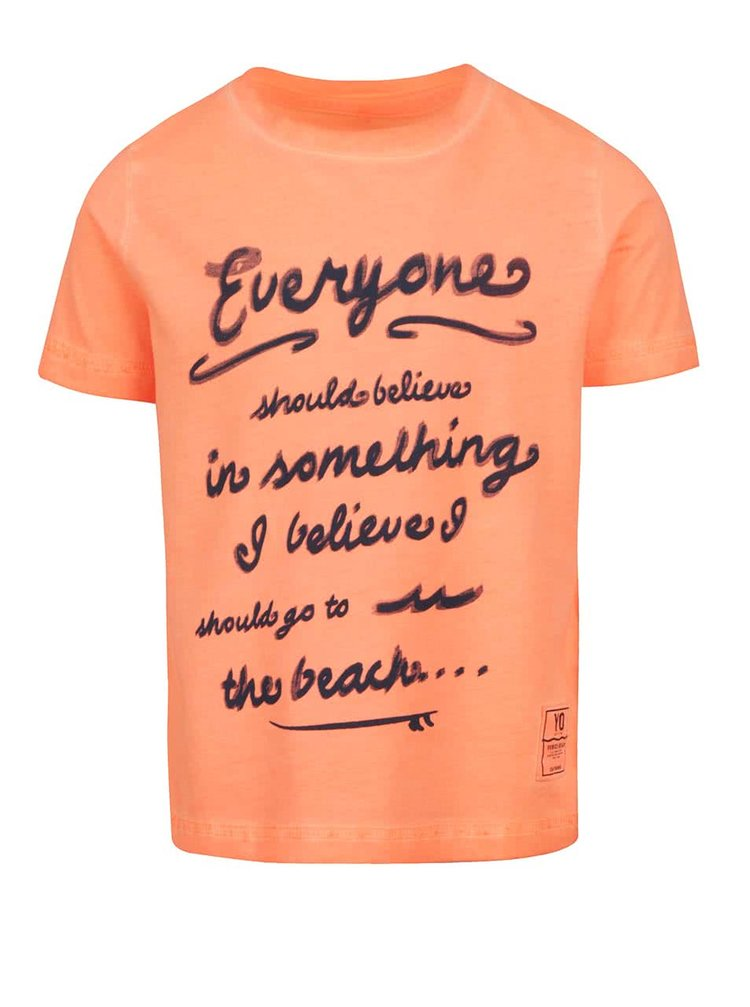 Oranžové klučičí triko s potiskem name it Zarst