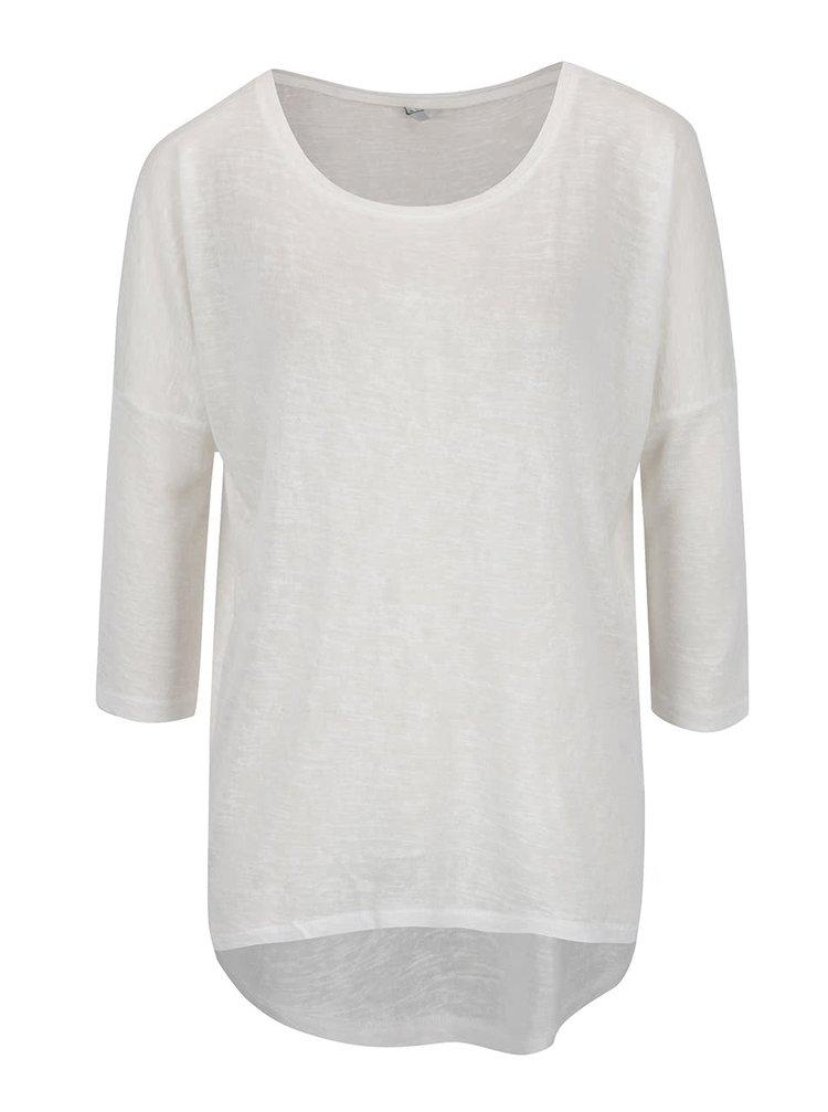 Bluză albă ONLY Camilla cu mâneci medii