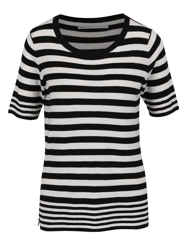 Bílo-černé pruhované tričko ONLY Mila