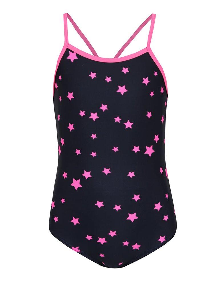 Černé jednodílné holčičí plavky s motivem hvězd name it Zummer