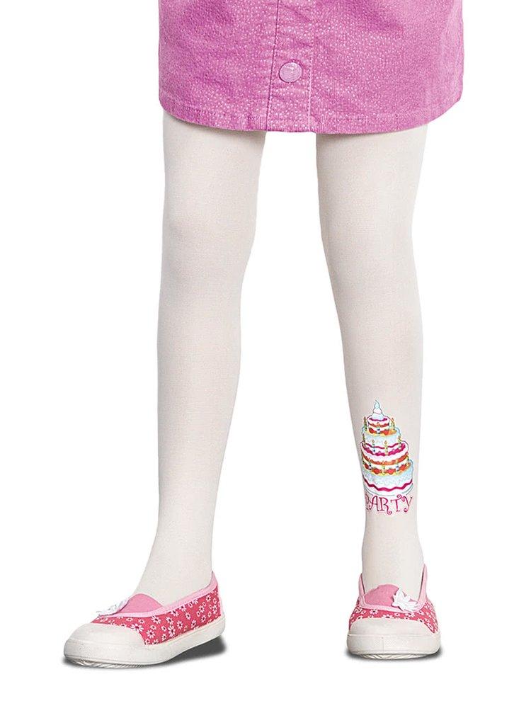Krémové voňavé holčičí punčocháče s motivem dortu Penti Vanilla 40 DEN