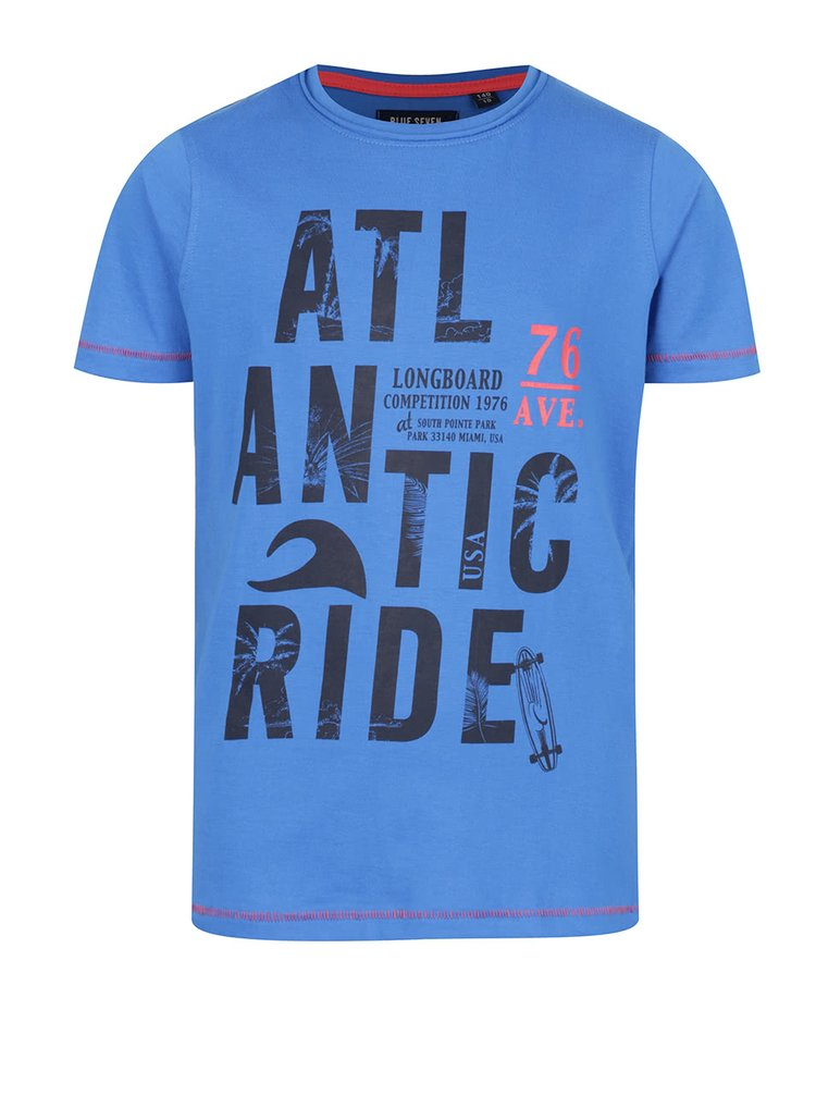 Tmavě modré klučičí tričko s potiskem Blue Seven