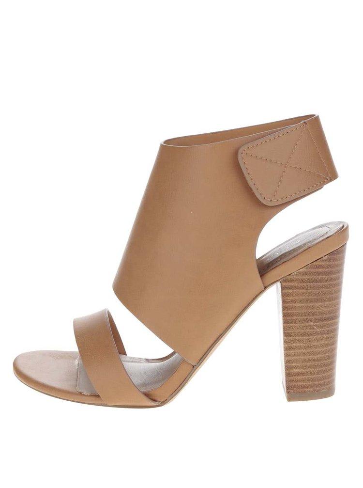Světle hnědé sandálky na širokém podpatku ALDO Mukai