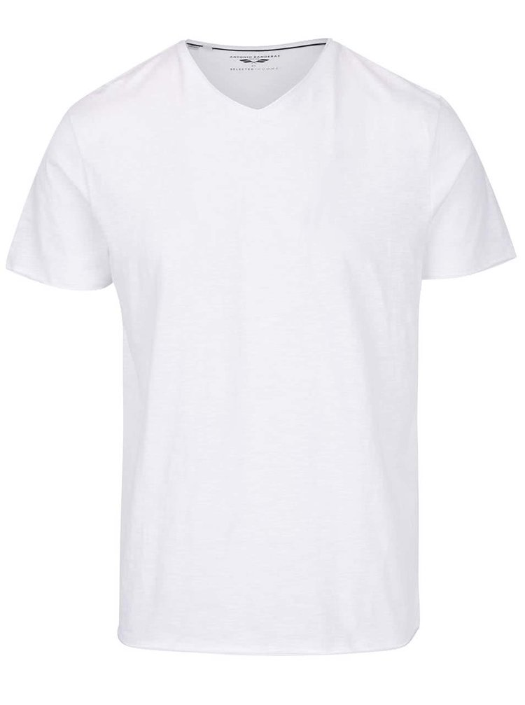 Bílé basic  triko Selected Homme Abraw