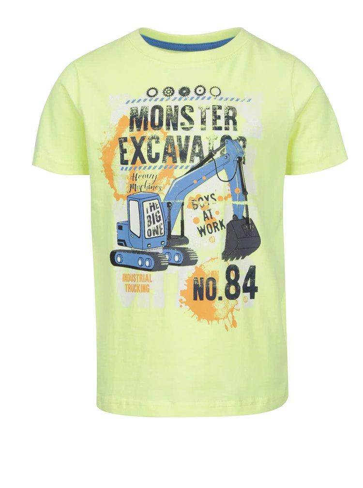 1e9779123329 ... Žlté chlapčenské tričko s motívom auta Blue Seven