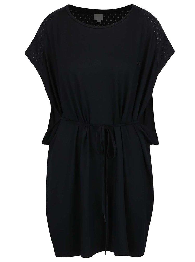 Černé oversize šaty s krátkým rukávem Bench