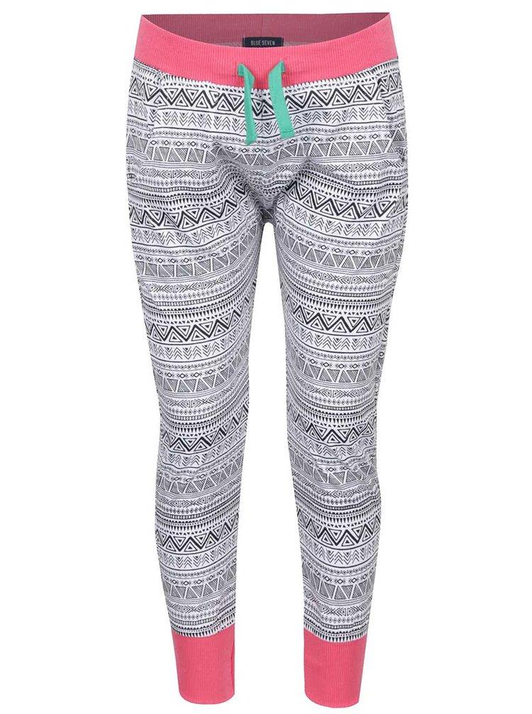 Pantaloni sport cu imprimeu Blue Seven pentru fete