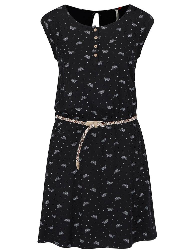 Rochie neagră Ragwear Zephie cu model