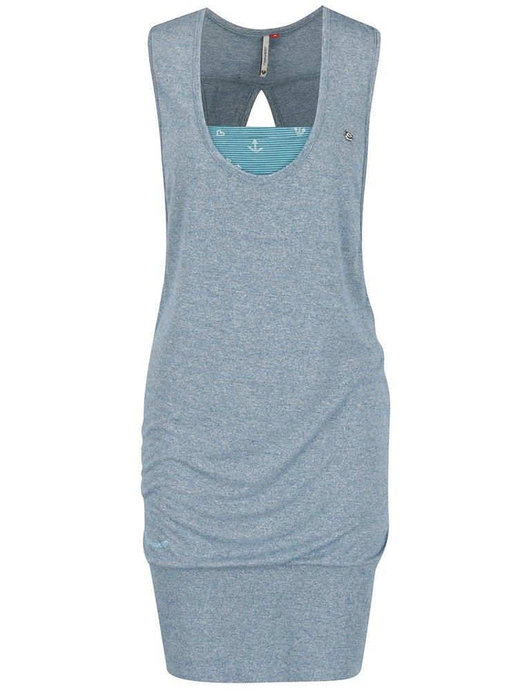 Modré šaty s všitým vnitřním dílem Ragwear Janet