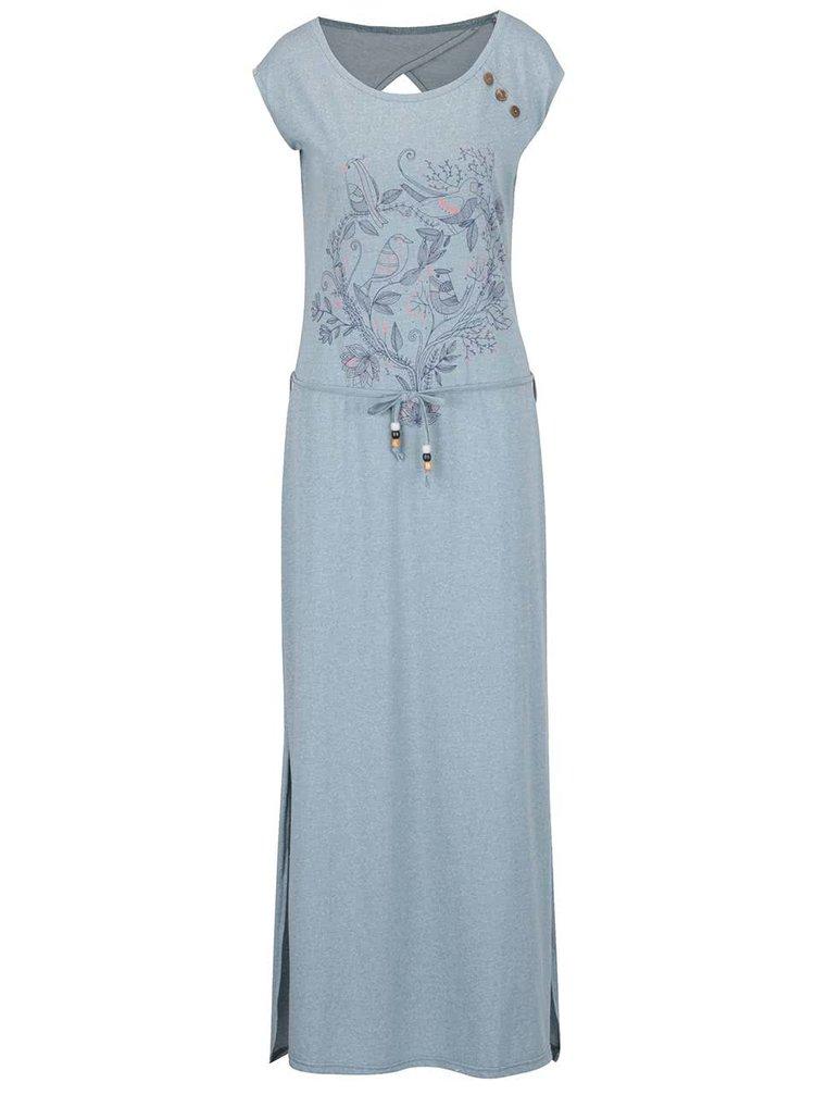 Rochie maxi albastru deschis Ragwear Athens Organic cu model