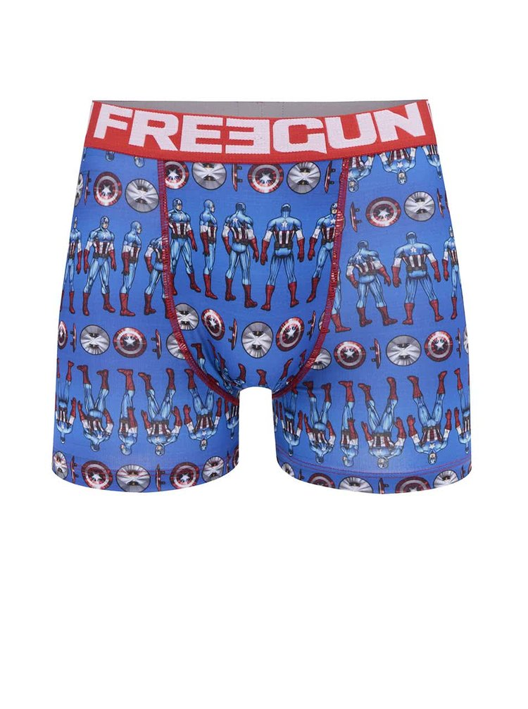Boxeri roșu & albastru Marvel Freegun cu imprimeu