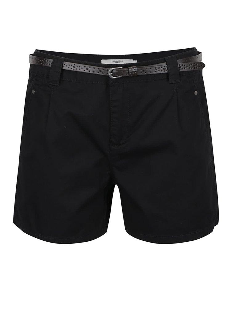 Pantaloni scurți negri VERO MODA Boni