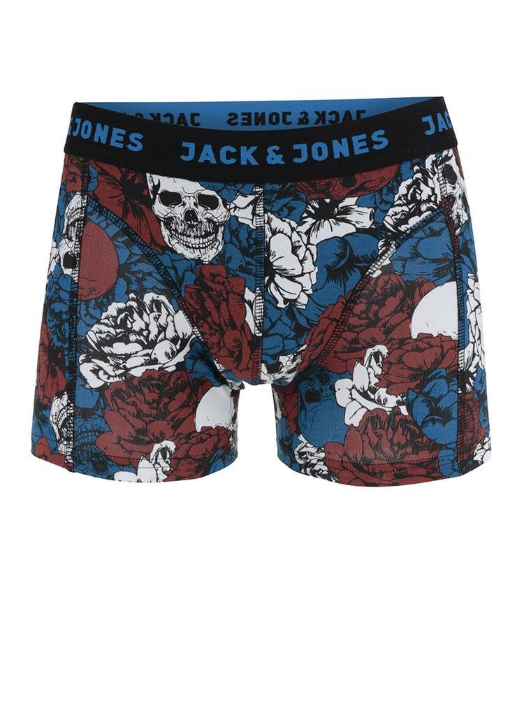 Boxeri albaștri Jack & Jones Mount cu model