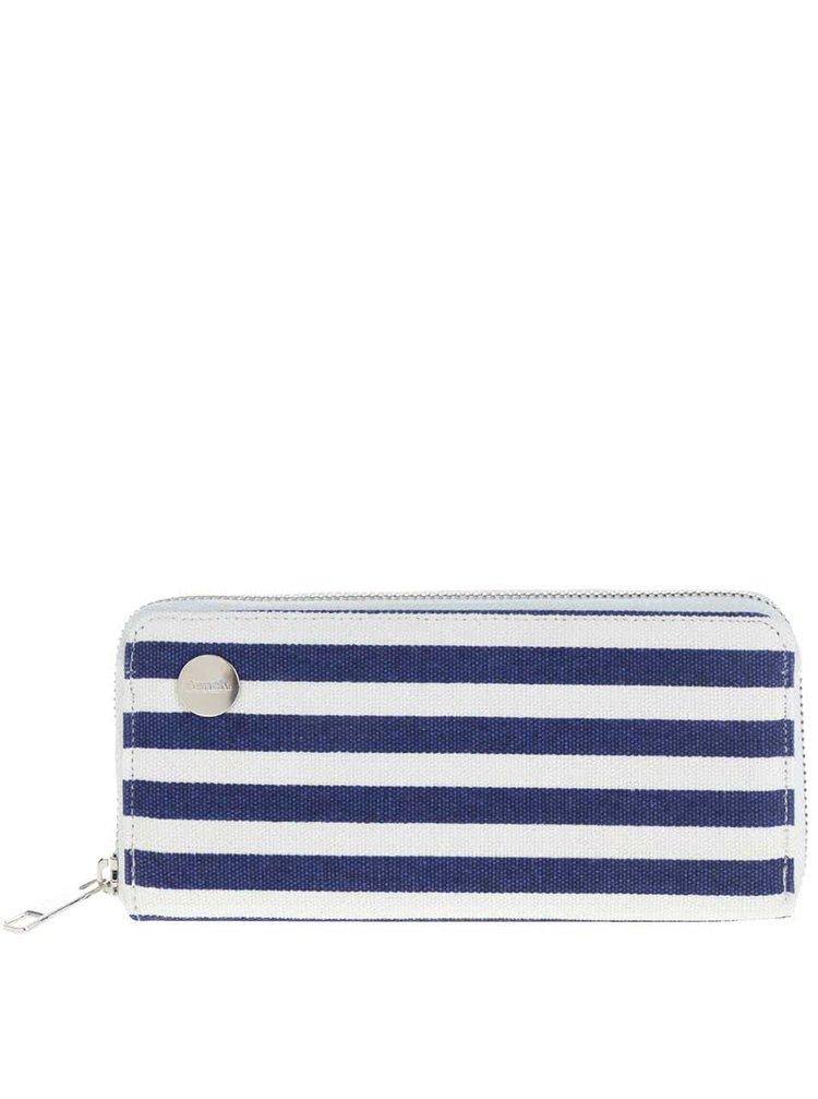 Bílo-modrá pruhovaná peněženka Bench