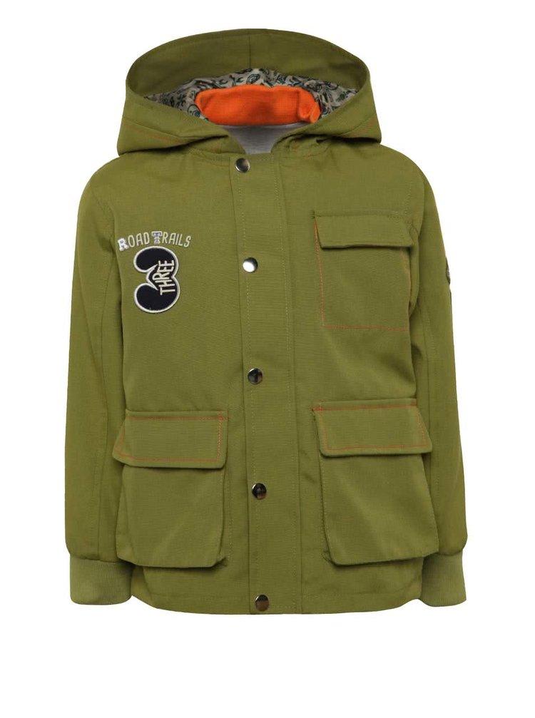 Zelená klučičí nepromokavá bunda s mikinou 2v1 5.10.15.