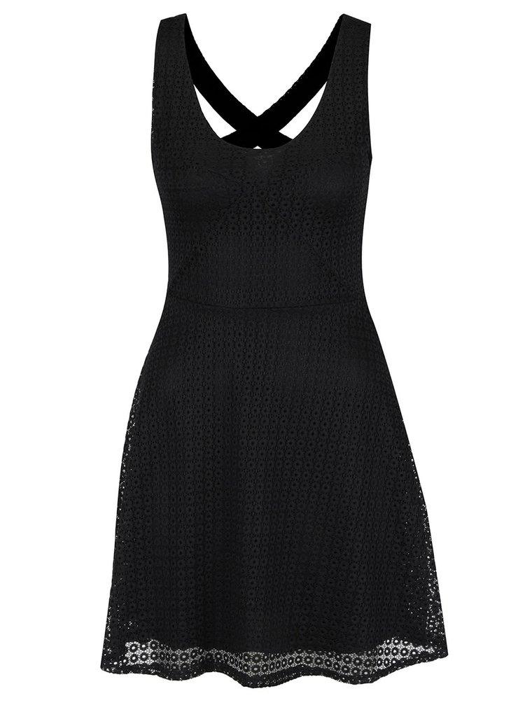 Černé krajkové šaty s odhalenými zády Haily´s Hedda