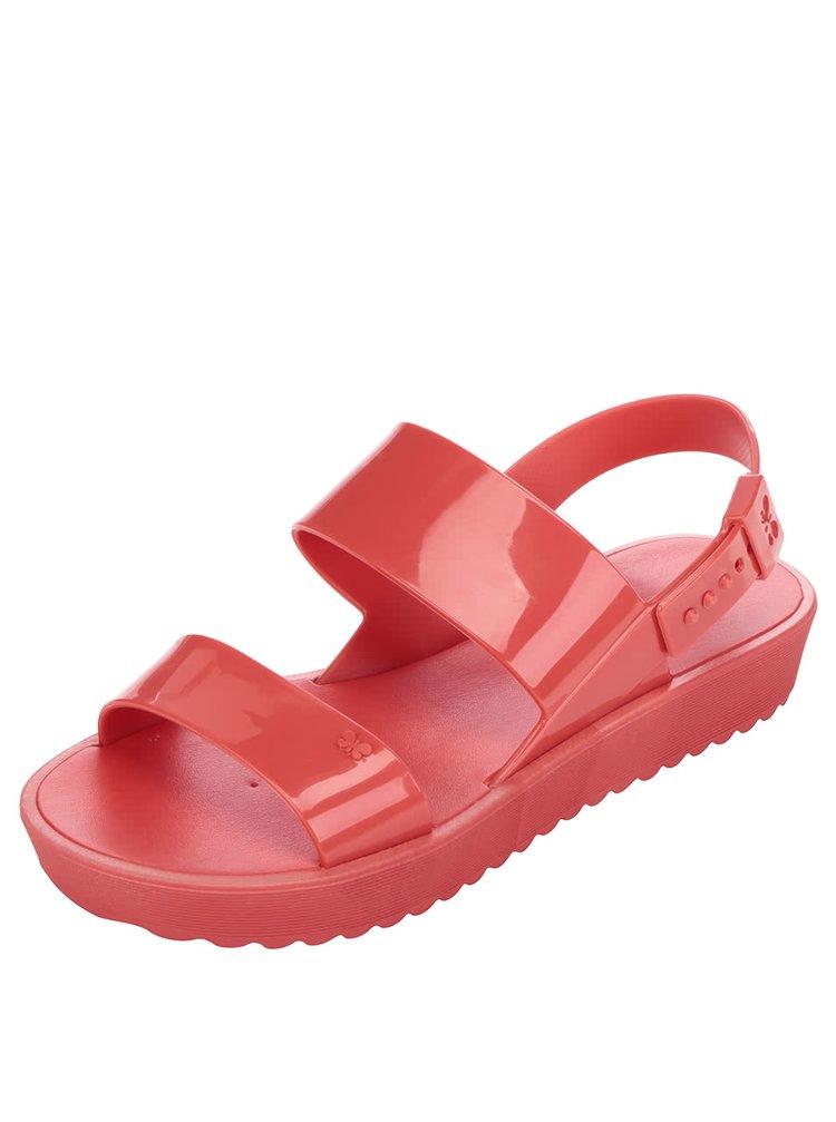Sandale roșii cu platformă Zaxy