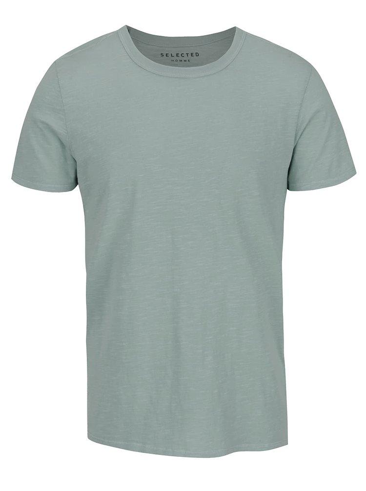 Zelené žíhané basic tričko Selected Homme Ben