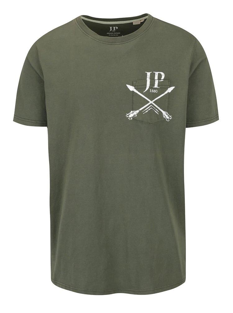 Khaki triko s potiskem a kapsou JP 1880