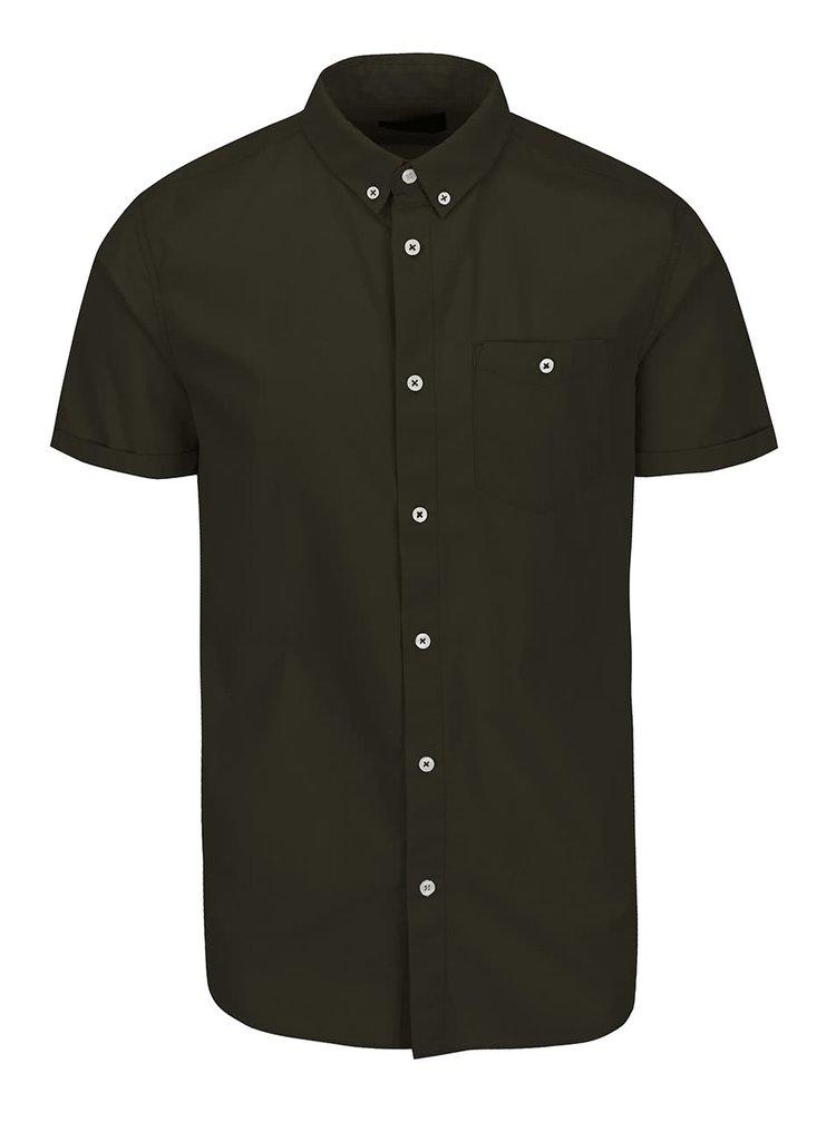 Khaki košile s krátkým rukávem Jack & Jones New Gavin