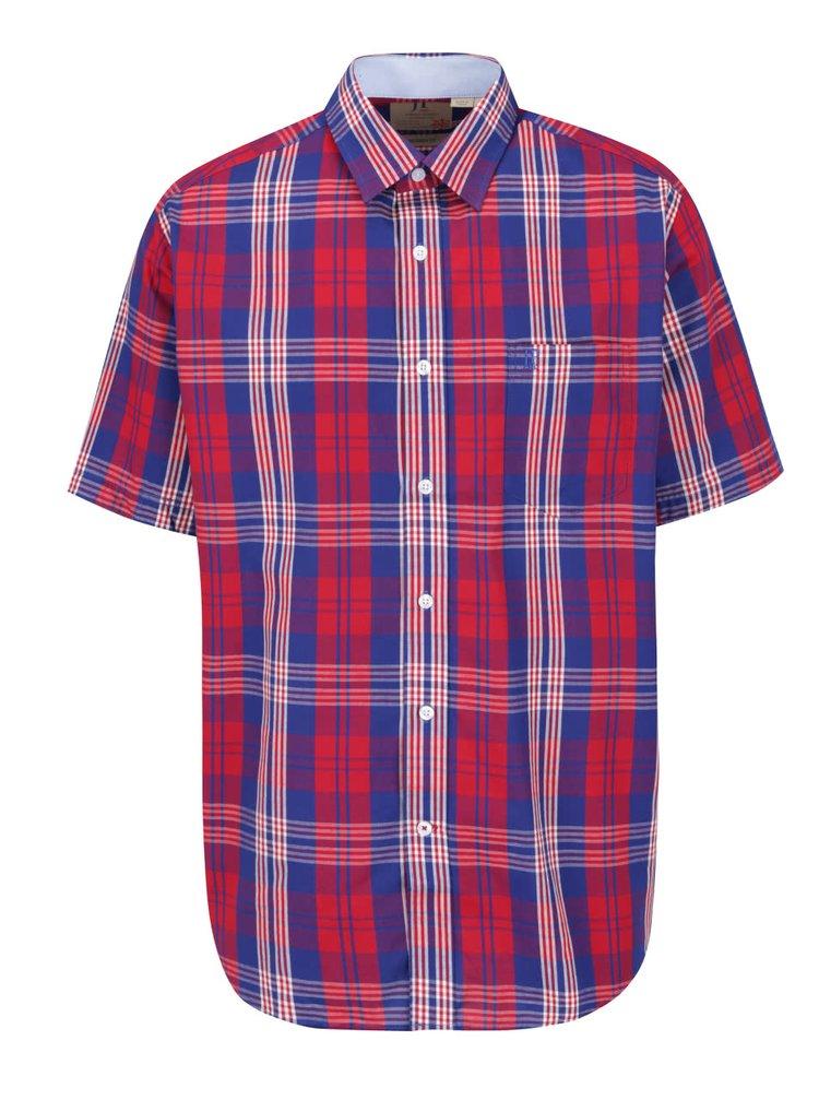 Modro-červená kostkovaná košile s krátkým rukávem JP 1880