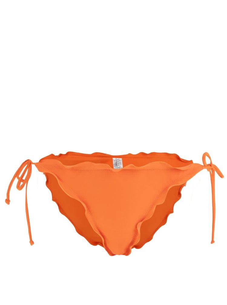 Slip portocaliu Pieces Lala cu volănașe