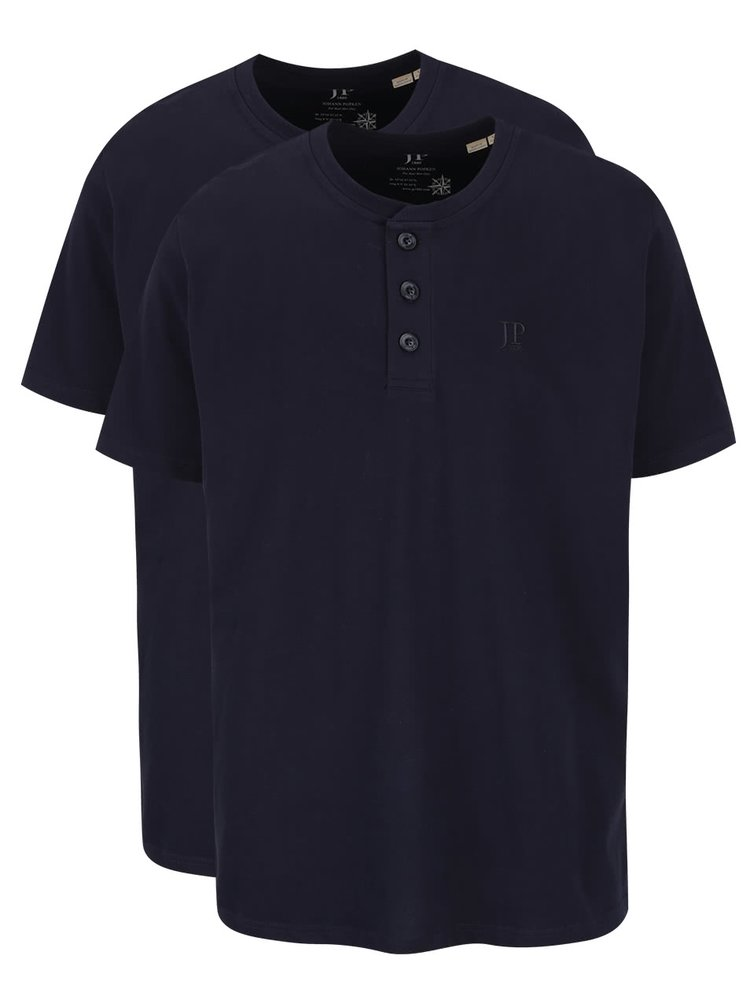 Set bleumarin JP 1880 cu două tricouri cu nasturi