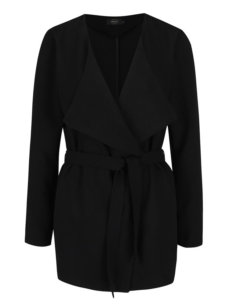 Černý lehký krátký kabát ONLY Maya
