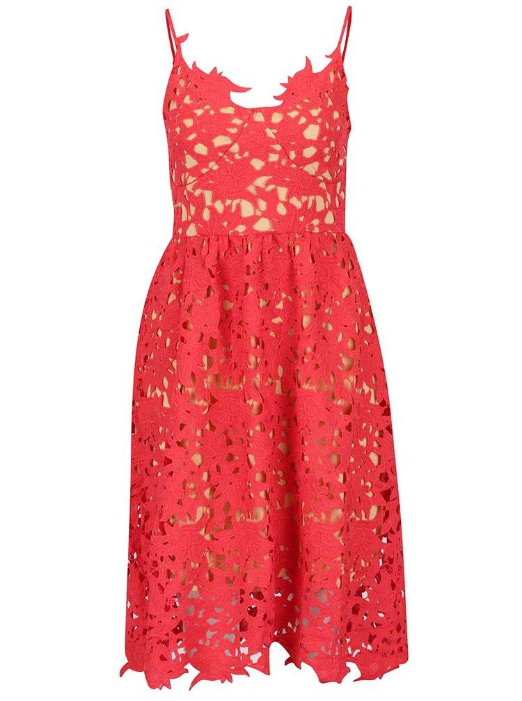 ... Červené krajkové šaty VERO MODA Beauti 77999d5fd4