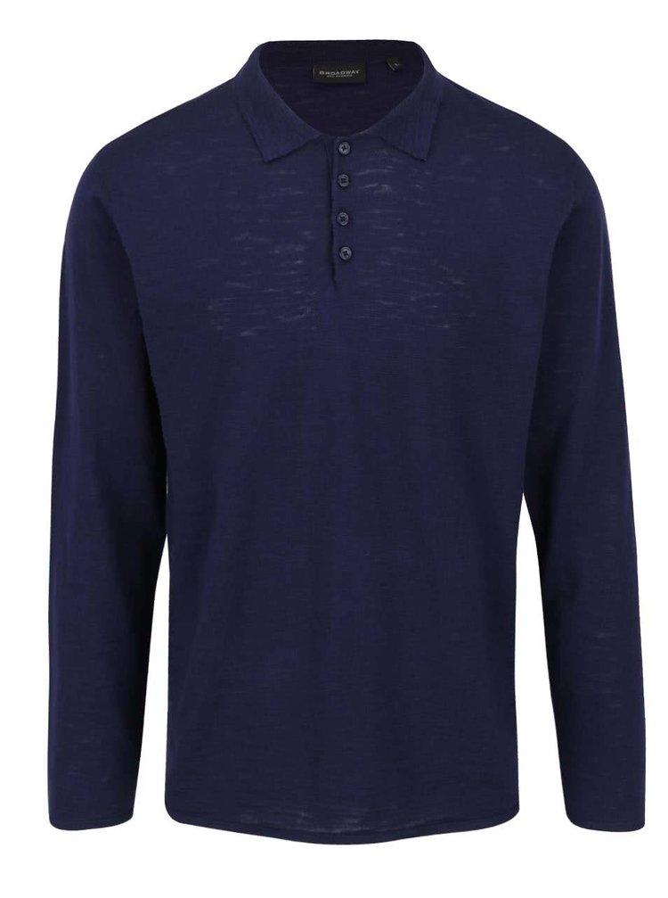 Bluză bleumarin Broadway Dash din jerseu