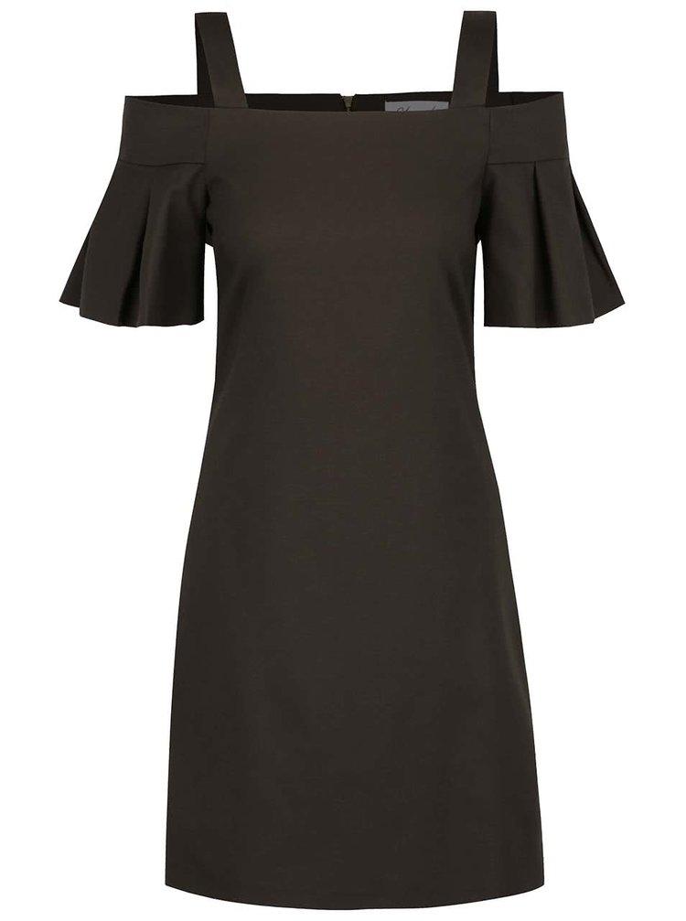 Khaki šaty s odhalenými rameny Closet