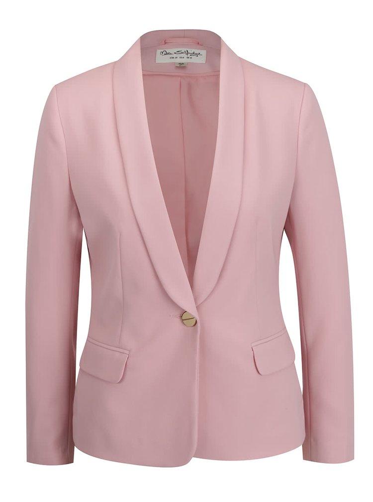 Světle růžové sako Miss Selfridge