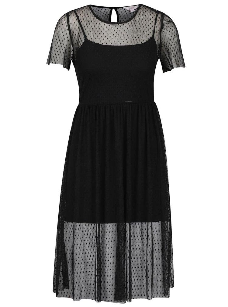 Rochie neagră transparentă Miss Selfridge Petites