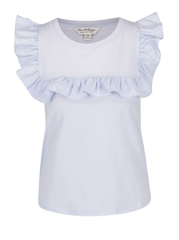 Tricou bleu Miss Selfridge cu volănașe