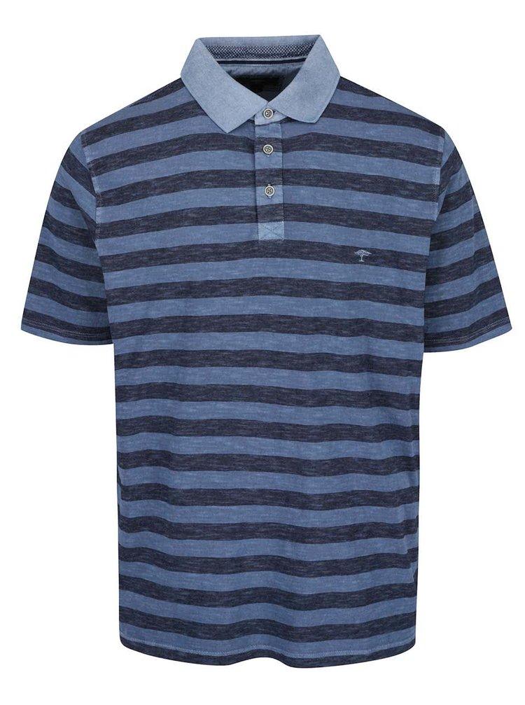 Šedomodré pruhované polo tričko Fynch-Hatton