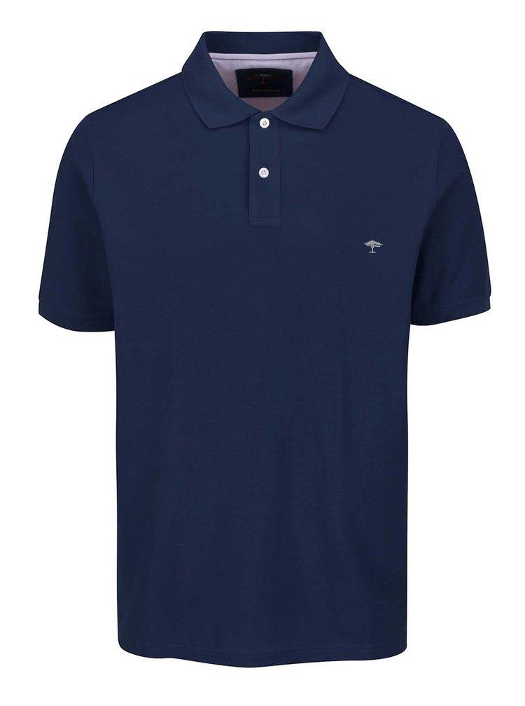 Tricou polo albastru închis Fynch-Hatton din bumbac cu logo