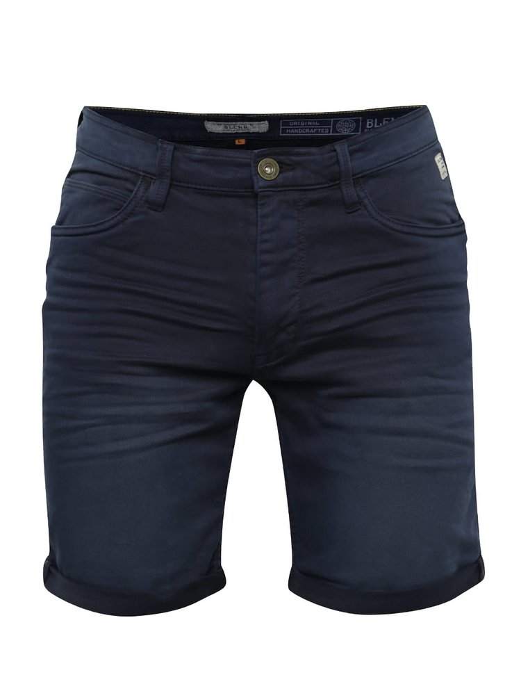 Pantaloni scurti bleumarin Blend din denim