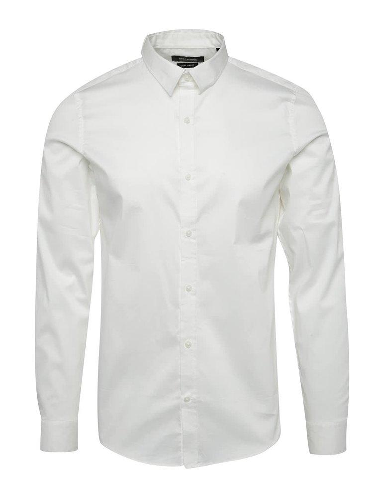 Bílá formální extra slim fit košile Only & Sons Alejandro