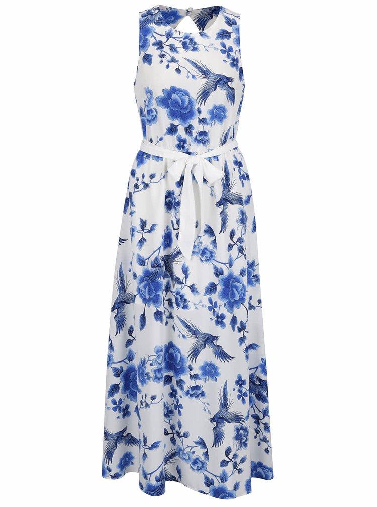 Bílo-modré květované maxišaty Dorothy Perkins