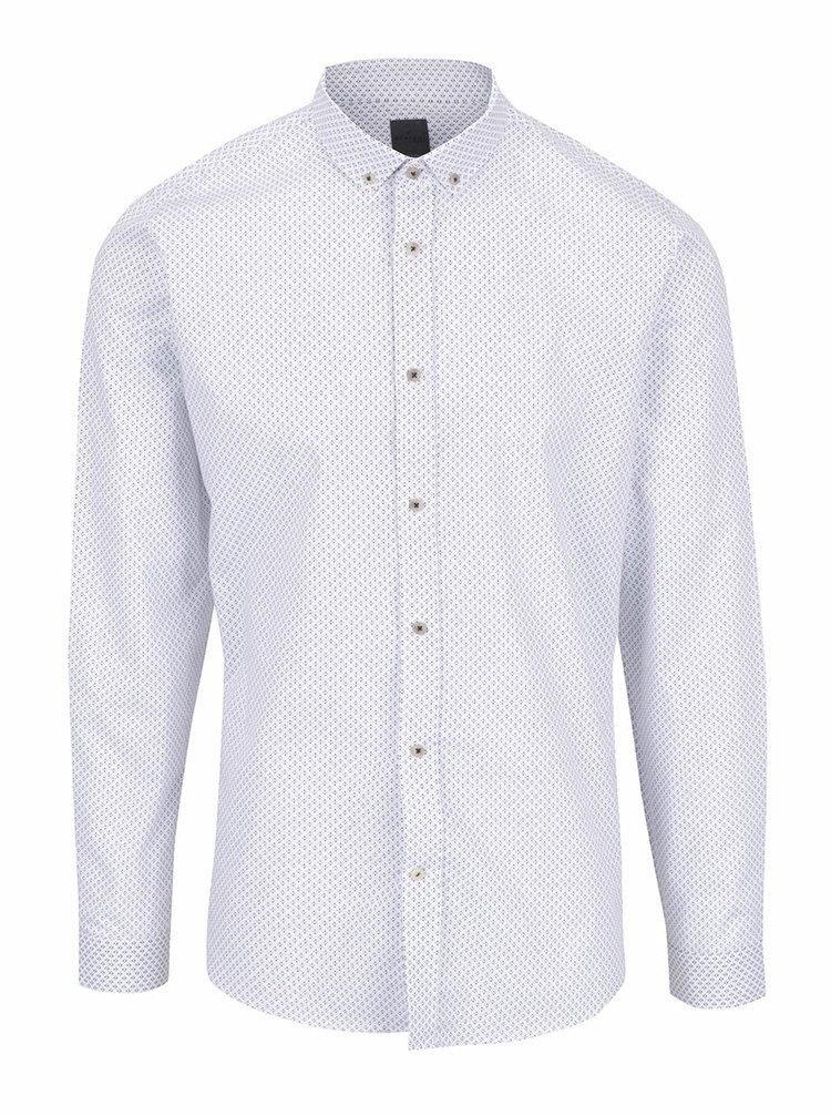 Bílá formální vzorovaná košile Bertoni Malte