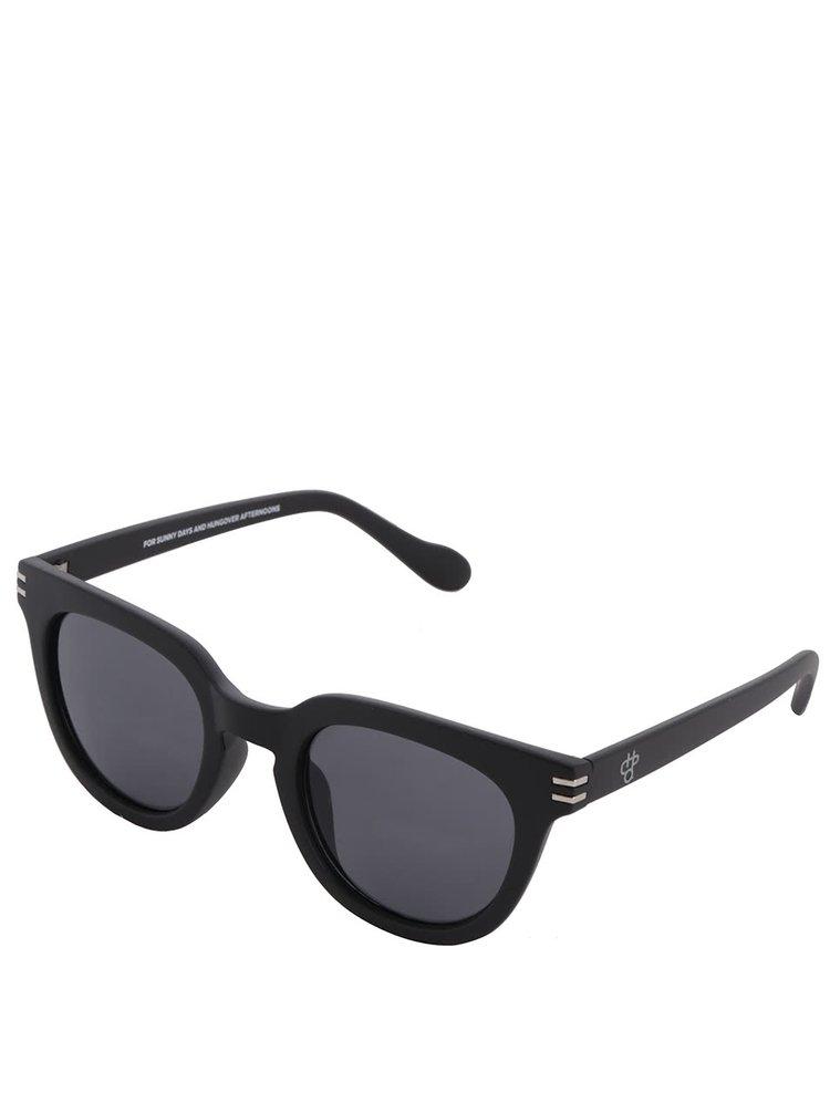 Černé unisex sluneční brýle CHPO Wellington