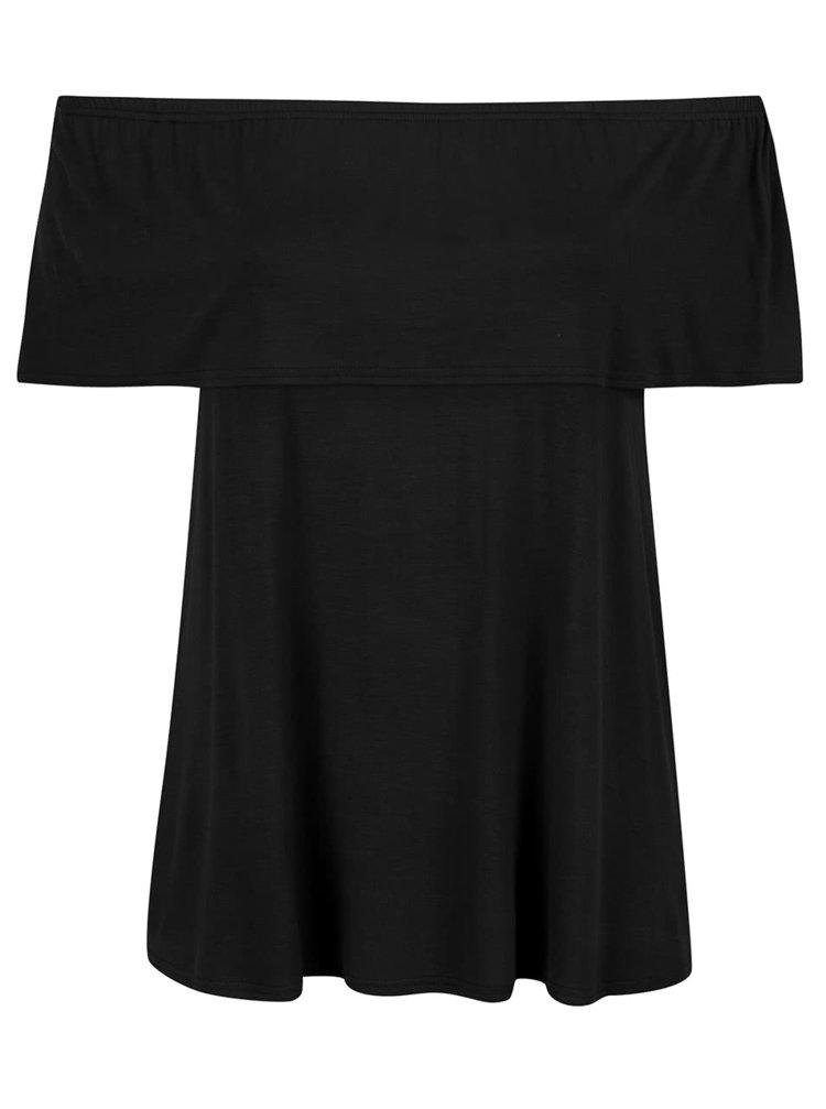 Tricou negru Dorothy Perkins Curve cu decolteu pe umeri