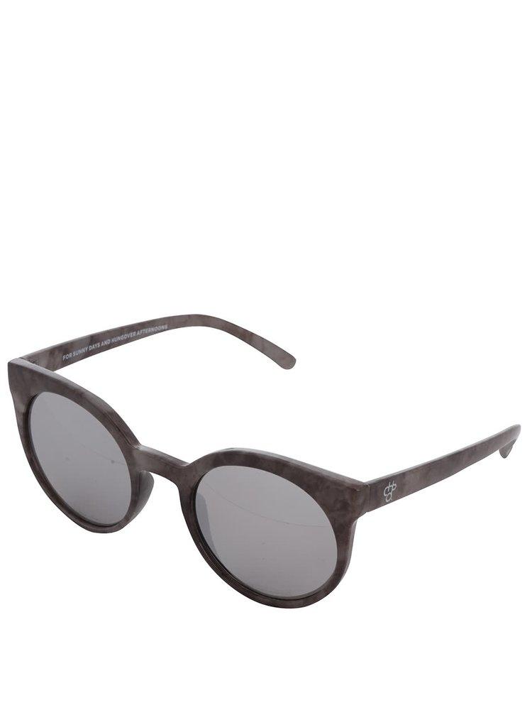 Šedé vzorované unisex sluneční brýle CHPO Padang
